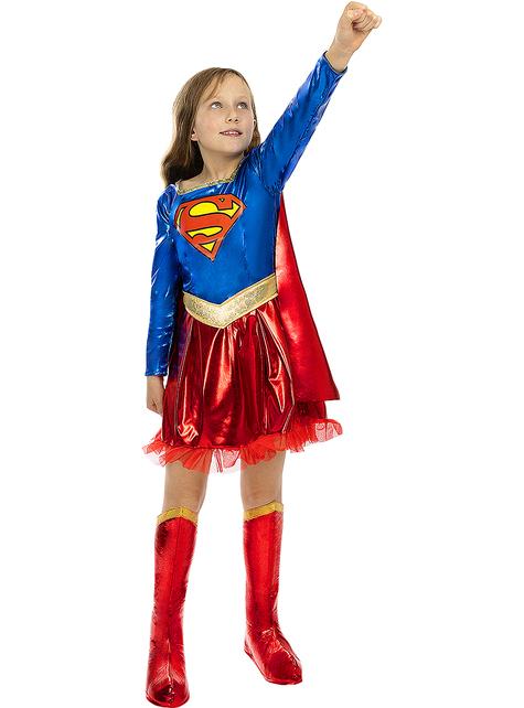 Deluxe Supergirl-Puku Tytöille