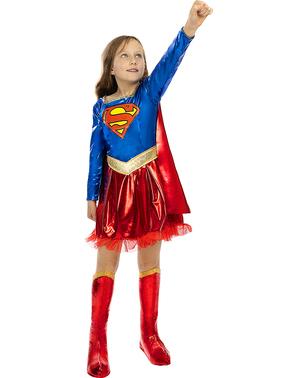 Deluxe Supergirl Kostume til Piger