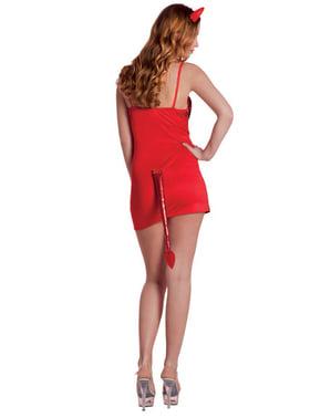 Disfraz de diablesa brillante para mujer