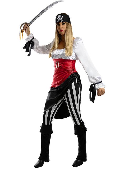 Disfraz de pirata aventurera para mujer - Talla grande