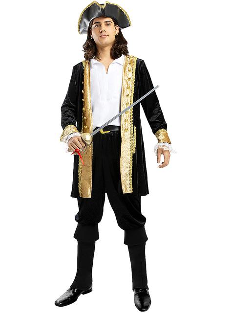 Deluxe Piraten kostuum voor mannen grote maat - Koloniale Collectie