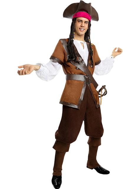 Piraten kostuum voor mannen grote maat - Caribische Collectie