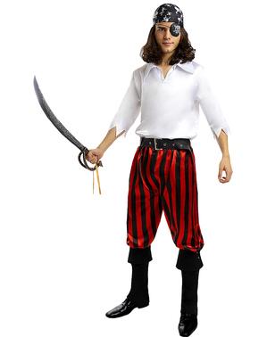 Pirat Kostume til Mænd i Plusstørrelse - Sørøver Samling