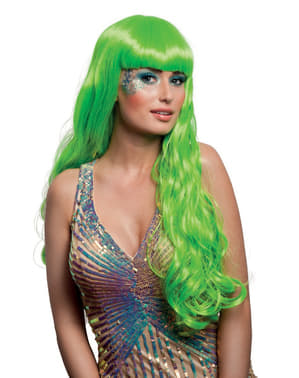 Очарователна перука с русалка на жената