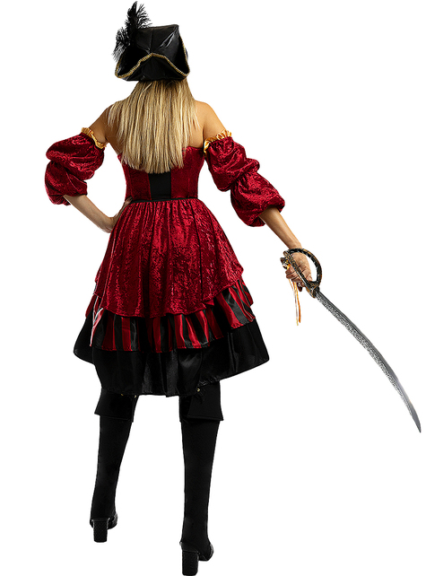 Disfraz de pirata corsaria elegante para mujer