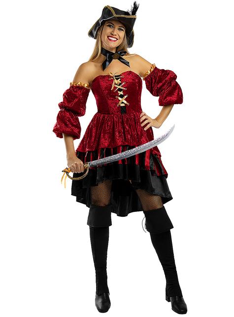 Disfraz de pirata corsaria elegante para mujer - Talla grande