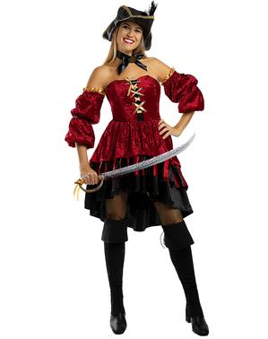 Costum de pirat Corsair elegant pentru femei  - Dimensiune mare