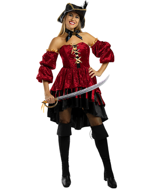 Elegant Corsair Pirate Costume for Women - Plus Size
