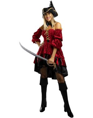 Elegant Corsair Pirat Kostyme til Damer - Størrelse
