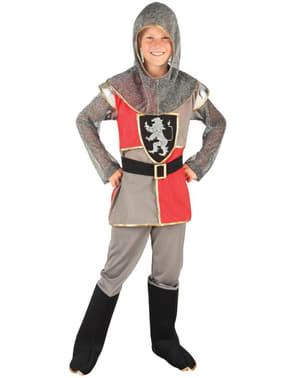 Fato de cavaleiro valente para menino