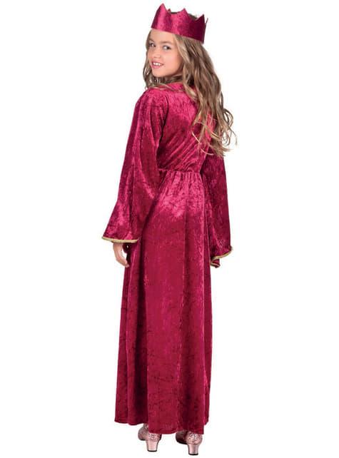 Fato rainha medieval para menina