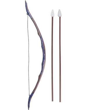Conjunto de arco e flechas de guerreiro Medieval