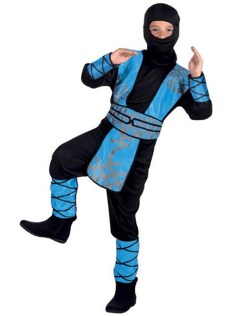 Kostium niebieski ninja dla chłopca