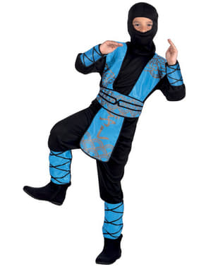 Blåt ninjakostume til drenge