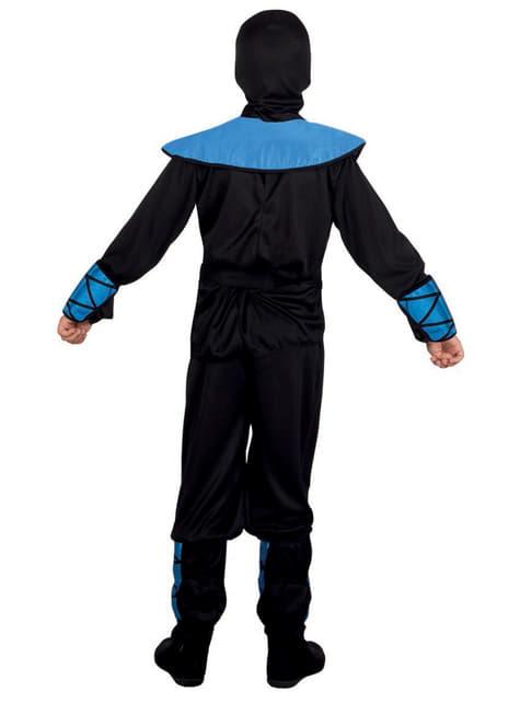 Déguisement ninja bleu enfant