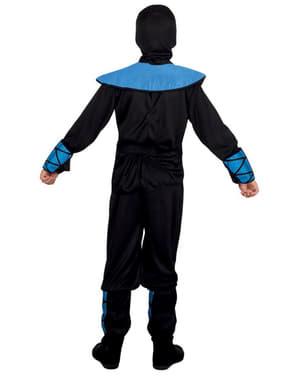 Fato de ninja azul para menino