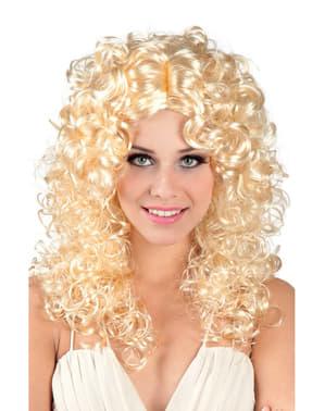 Peruk Grekisk blond med krulligt hår för henne