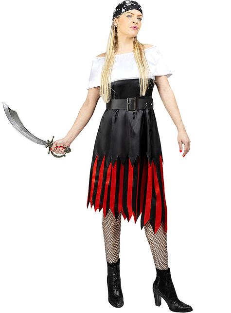Piraten kostuum voor vrouwen grote maat - zeerover Collectie