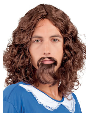Brown Musketeer Wig with Goatee