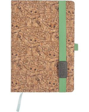 Блокнот та ручка з маленьким Йода з Мандалорця - Зоряні Війни
