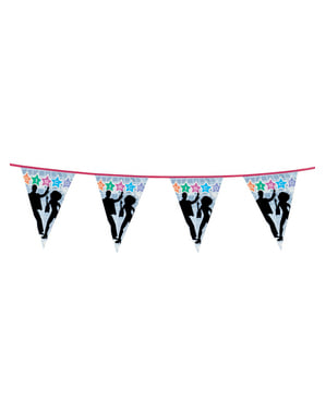 Decorative Disco Dancers Banner