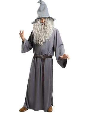 Peruk Gandalf med skägg - Sagan om Ringen