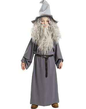 Peruk Gandalf med skägg för barn - Sagan om Ringen