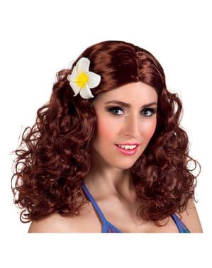 Parrucca rossa da hippie seducente per donna