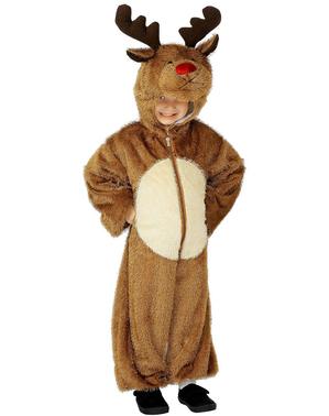 Costume da renna con cappuccio da bambino