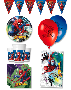 Decoración cumpleaños premium Spiderman 8 personas