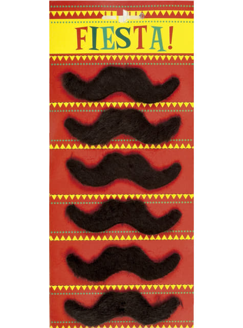 6 moustache mexicaines homme