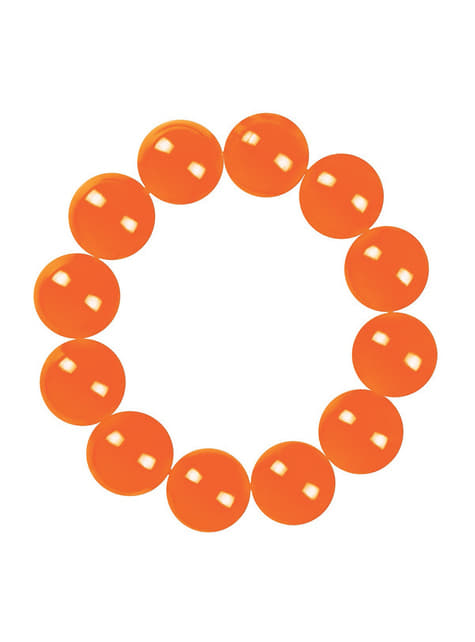 Pulsera naranja de perlas para mujer - original