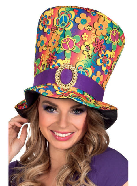 Adult's Multi-coloured Hippy Hat