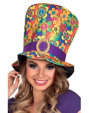 Sombrero de hippie multicolor para adulto
