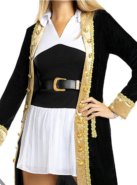 Disfraz de pirata deluxe para mujer - Colección colonial