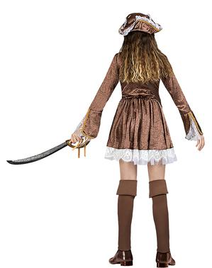 Fato de pirata colonial para mulher