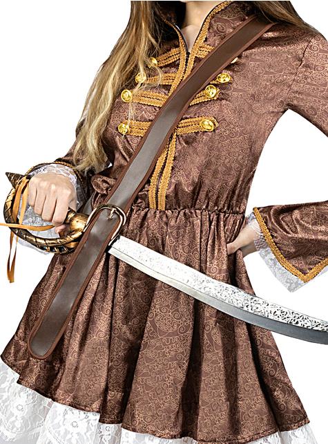 Disfraz de pirata colonial para mujer