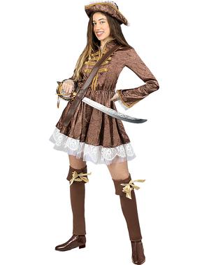 Kolonipirat Kostyme til Dame - Plusstørrelse