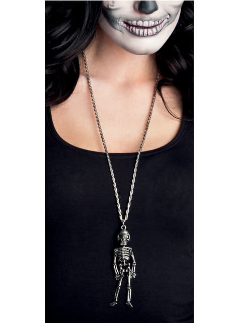 Collar de esqueleto mexicano para mujer - para tu disfraz