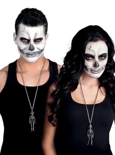 Collar de esqueleto mexicano para mujer - barato