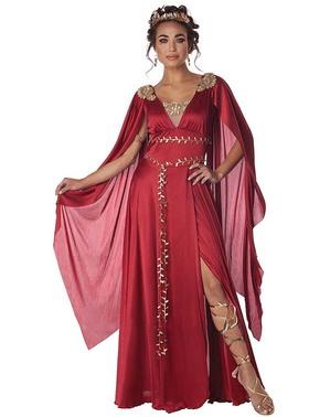 Disfraz de romana rojo para mujer