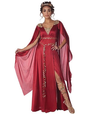 Červený kostým Říman pro ženy