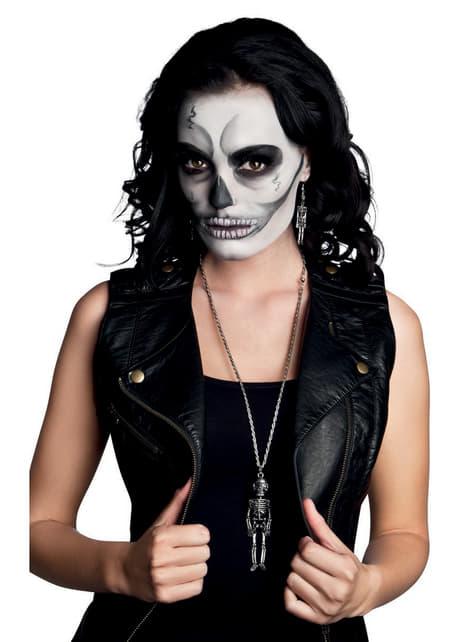 Collar de esqueleto mexicano para mujer - Halloween