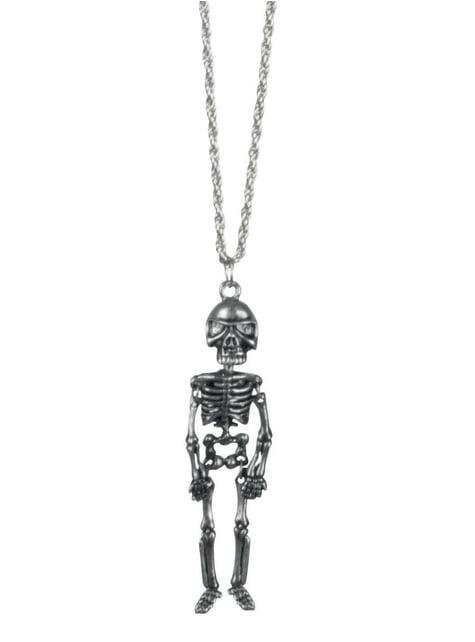 Collar de esqueleto mexicano para mujer
