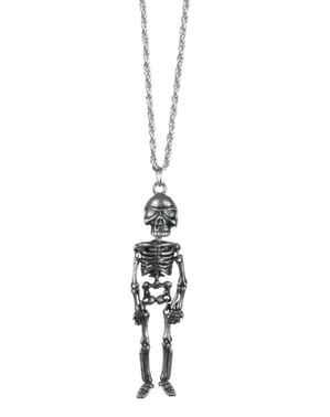 Colar de esqueleto mexicano para mulher