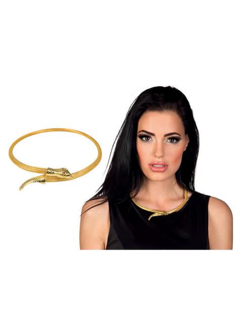Collar de serpiente de Egipto para mujer - para tu disfraz
