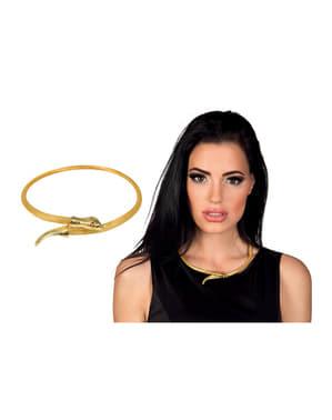 Collar de serpiente de Egipto para mujer