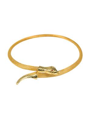 Colar de serpente de Egito para mulher
