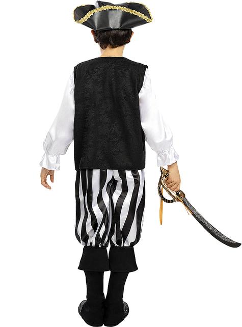 Déguisement pirate à rayures garçon - Collection Blanc et Noir
