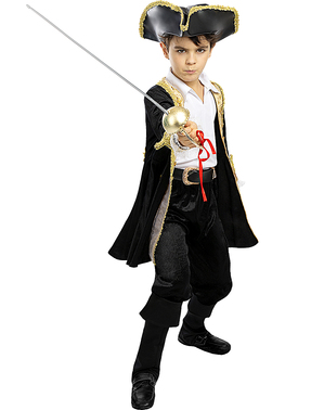 Costum de pirat Deluxe pentru băieți - Colecție Colonial
